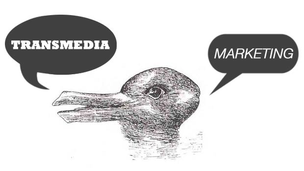 Duck and Rabbit arguing about transmedia